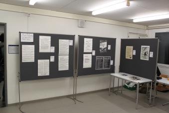 Ausstellung über frühere Studierendenproteste vom Studentischen Onlinearchiv